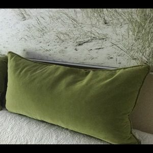Velvet green grass pillows